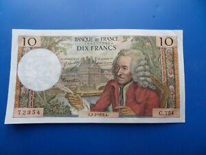 10 Francs Voltaire , Billets France , 10 Francs Voltaire 1972