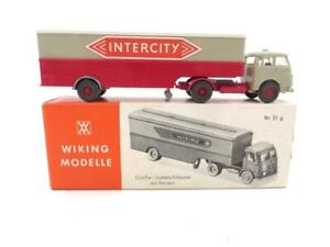Wiking #51g New Old Stock Intercity Tractor Trailer Mint Original Box       (14)