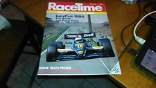 RACETIME MAY 1992 RACING'S TELEVISION GUIDE INDY CARS 1992 - UASC,NHRA,NASCAR