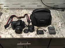 Canon EOS 20D 8.2MP Digital SLR Camera Black (Kit w/ EF-S 18-55mm & 50 mm Lens)