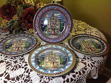 SAKURA Debbie Mumm 2000 Haunted House Set of (4) Salad Plates