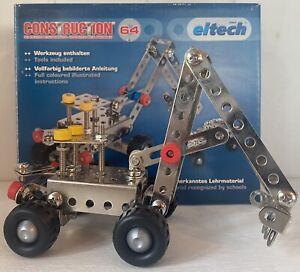 eitech Construction 64 Metallbaukasten Bauset Kinder Neuwertig Vollständig