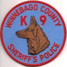 K-9  DHF  WINNEBAGO County SHERIFF's Police Patch Polizei Abzeichen Hundeführer