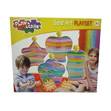 Sand Art Ensemble Par Jeu & Apprenez Design 4 x coloré Sable En Bouteilles