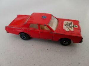 Vintage Lesney Matchbox Superfast Series No 59 or 73 Mercury FireChief Car 1970