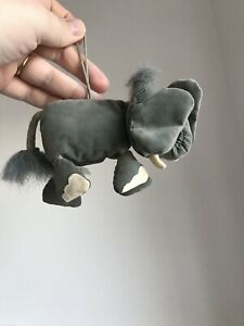 Jellycat Dingly Dangly Elephant Rare Retired Hanging Grey Vintage