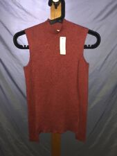 Ambiance Womens Small Burgundy Red Cold Shoulder Top Shirt