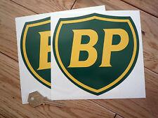 BP Coachline Shield Car STICKERS 150mm Pair Race RACING Bike Classic Fuel Petrol