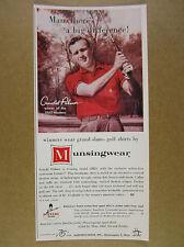 1961 Arnold Palmer photo Munsingwear Golf Shirts penguin vintage print Ad