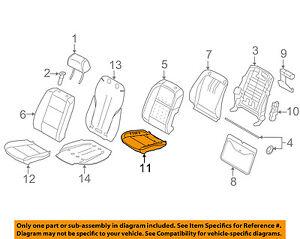 BMW OEM 15-16 X6 Front Seat Bottom-Foam Cushion Pad Insert Right 52107386373