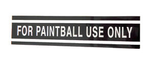 Scuba Tank Paintball Use Only Marking Wrap Decal Sticker Dive D212