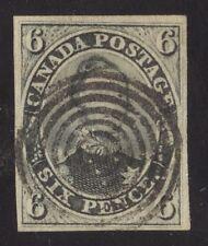 Canada 1855 Consort 6d slate grey #5 VF 7 ring cancel - VGG cert