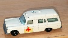 "MERCEDES BENZ ""BINZ"" AMBULANCE ~ Matchbox Lesney 3 C ~ Made in England 1968"