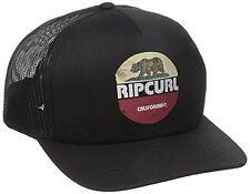 Rip Curl NEW Breeze Truckers Snapback Hat Black California Bear
