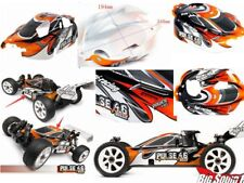 x1 Orange Black & White Body Shell Cover & Mount Posts - HPI 1/8 Pulse 4.6 Buggy