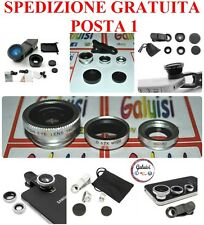 LENTI KIT 3in1 IPHONE SAMSUNG LG SONY HUAWEI FISHEYE+WIDE/GRANDANGOLO+MACRO LENS
