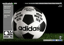 The official ball of the 1974 FIFA World Cup in Germany: ADIDAS TELSTAR DURLAST