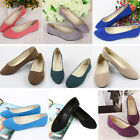 Women Lady Suede Boat Shoes Casual Flat Ballet Slip On Flats Single Loafers