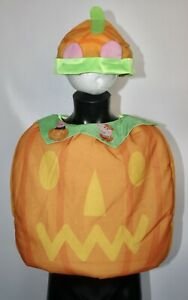 Childs Peppa / George Pig Pumpkin Costume Halloween Fancy Dress Outfit Age 2-3