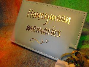 HONEYMOON PHOTO ALBUM GIFT 6 BY 4 PHOTOS small size honeymoon photograph album