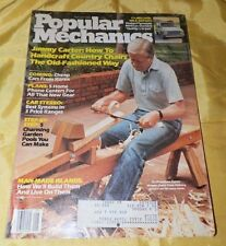 August, 1984 Popular Mechanics Magazine-Jimmy Carter Making a Chair on Cvr