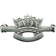 Original WW2 British Merchant Navy Comforts Service Naval Fund Lapel Badge EB57