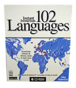 Instant Immersion Learn 102 Languages on 6 CD-Roms  / Spanish to English Version