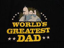 SNOOPY Peanuts Dog WORLD'S GREATEST DAD Fathers Day T Shirt Blue size Medium