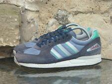 Vintage 1988 Adidas Bristol UK 6.5 Made In Taiwan OG Rare Blue Runners 80s 1980s
