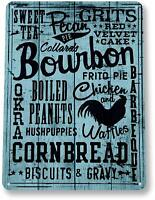 Kitchen Bourbon Blue Kitchen Cottage Farm Beach House Metal Decor Sign