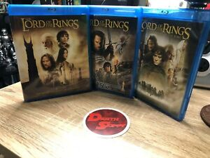 Blu-ray Lot (3) Lord Of The Rings Collection Blu-ray Set - Used