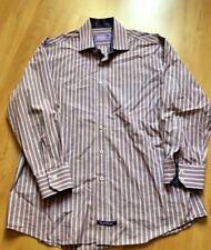 New ENGLISH LAUNDRY CHRISTOPHER WICKS Mens Purple Stripe 17  32/33 Dress Shirt