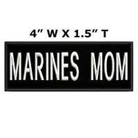 MARINE MOM Embroidered Patch Iron-On / Sew-On Motif Military Applique