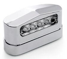 12V LED éclairage de plaque métal custom chrome pour HD HARLEY SUZUKI YAMAHA