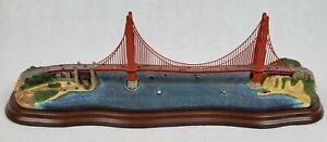 Danbury Mint Golden Gate Bridge San Francisco Sculpture Figurine 🔹️ RARE