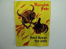 MERCYFUL FATE  EMBROIDERED BACK PATCH