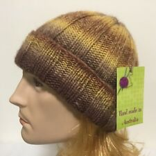 HAND KNITTED  MEN EUROPEAN WOOL WITH EXCITING COLOUR COMBINATION  RIBBED BEANIE