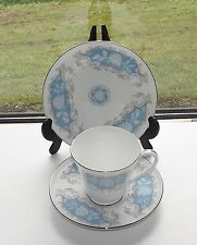 Aynsley Fine Bone China Moonlight Rose Trio Cup Saucer Plate