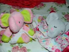 New listing Lot of 2 Pink Elephant Security Blanket Lovey