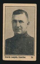 1924-25 V130 Maple Crispette (Hockey) #26 CHARLIE LANGLOIS (Hamilton Tigers)