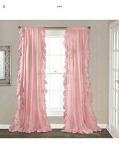 New With Package Reyna Window Panel Set Pink 54x84