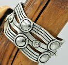 Pre-1948 Spratling Design Mexico Sterling River Of Life Cuff Bracelet 70 Grams