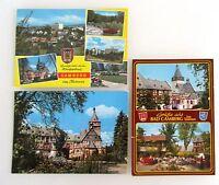 3 x BAD CAMBERG im Taunus Hessen Postkarten gebraucht, frankiert mit Briefmarken