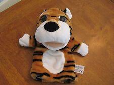 """kellytoy kelly toy plush tiger plush hand puppet 10"""" big bright eyes"""