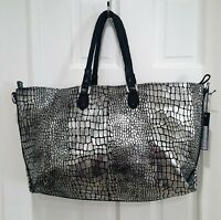 LIEBESKIND BERLIN CHELSEA SILVER LEATHER BAG