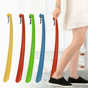 UK Long Plastic Shoe Horn Shoe Boot Remover Mobility Aid Easily Slip On Shoes