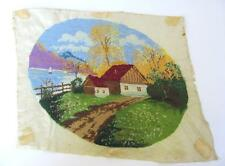 Vintage Handwoven & Embroidered Tapestry Gobelin - Scenery