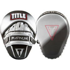 Title Boxing Platinum Proclaim Power Contoured Leather Punch Mitts -Black/Silver