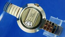 Vintage NOS Roberta Mechanical Jump Rolling Hour Digital Watch 1970 Switzerland