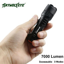 Real Super Bright 7000LM CREE AA/14500 3 Modes Zoom LED Flashlight Torch Lamp y